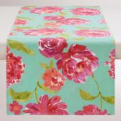 Aqua and Pink Floral Blake Table Runner