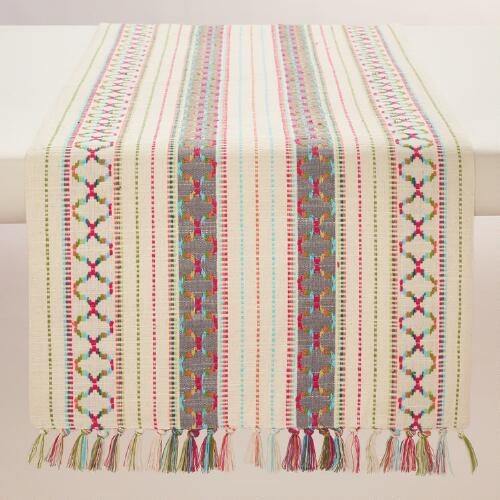 Woven Stripe Cassia Table Runner