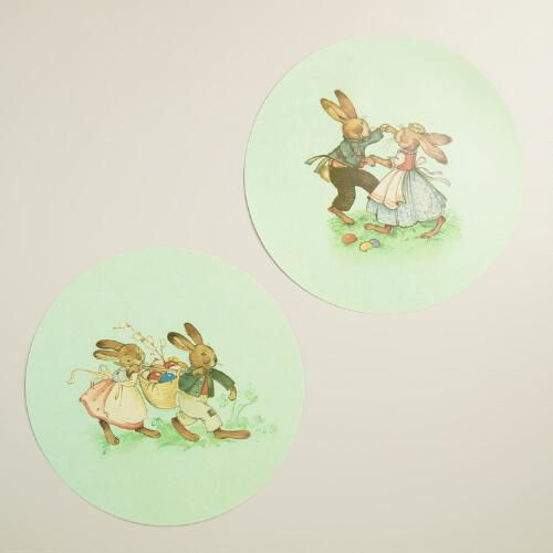 Nestler Bunnies Wipe Off Placemats Set of 4