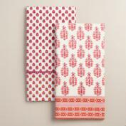 Coral Rana Kitchen Towels Set of 2