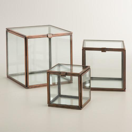 Square Glass Curio Box