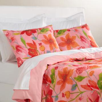 Watercolor Floral Bedding Collection