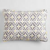 Yellow and Gray Allison Pillow Shams Set of 2