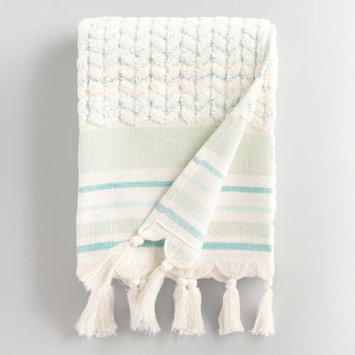 Mint Riley Sculpted Hand Towel