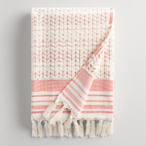 Coral Riley Sculpted Bath Towel