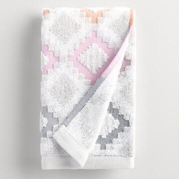 Geometric Dylan Sculpted Hand Towel