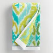 Turquoise Damask Lillian Sculpted Hand Towel