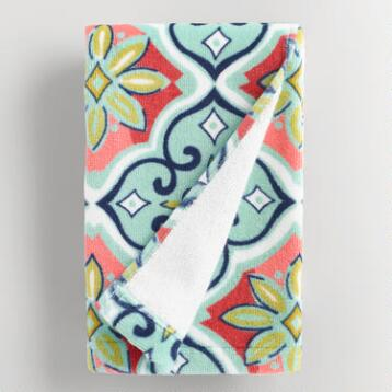 Windward Tile Printed Hand Towel