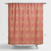 Coral Medallion Frieda Shower Curtain
