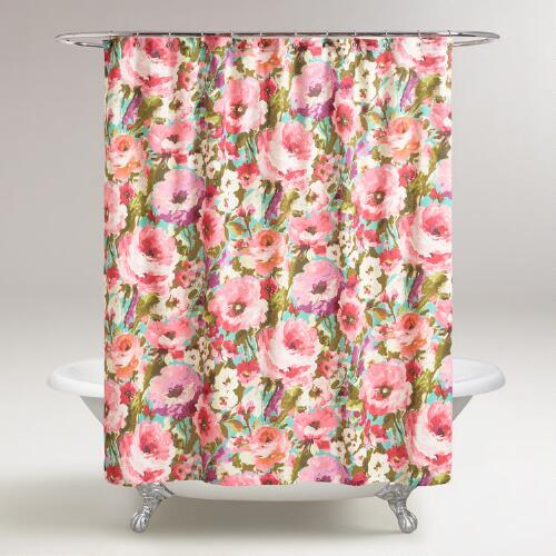 Watercolor Floral Rosamunde Shower Curtain