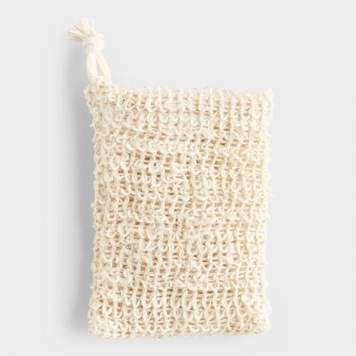 Sisal and Cotton Soap Pouch