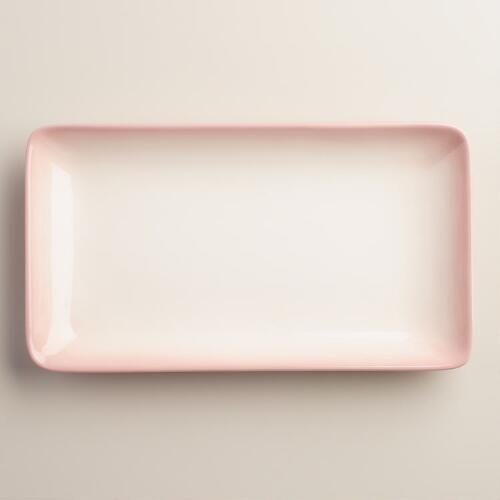 Blush Ombre Ceramic Tray