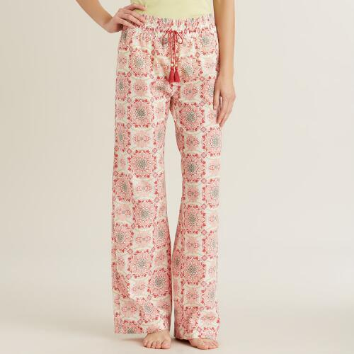 Pink Medallion Julianna Pajama Pants