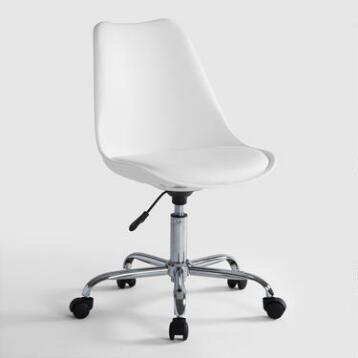 white emerson office chair acrylic office chairs