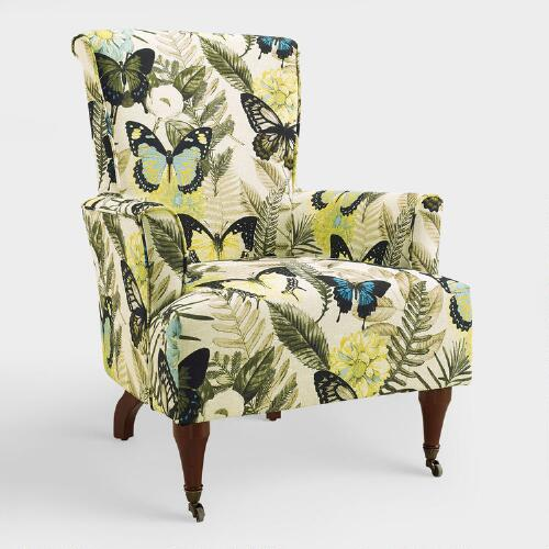 Butterfly Botanical Clares Upholstered Armchair
