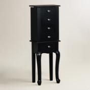 Black Wood Villette Jewelry Armoire
