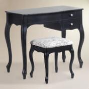 Black Wood Villette Vanity Set