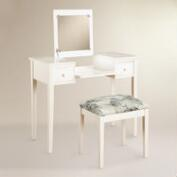 White Wood Margaret Vanity Set