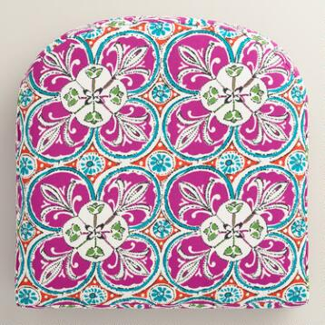 Coral Sea Tile Gusseted Outdoor Chair Cushion