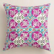 Coral Sea Tile Outdoor Throw Pillow