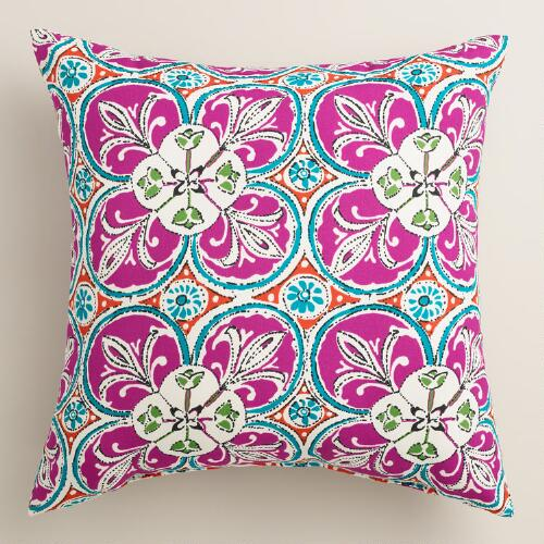 Coral Sea Tile Outdoor Throw Pillow World Market
