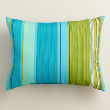 Coastal Stripe Outdoor Lumbar Pillow