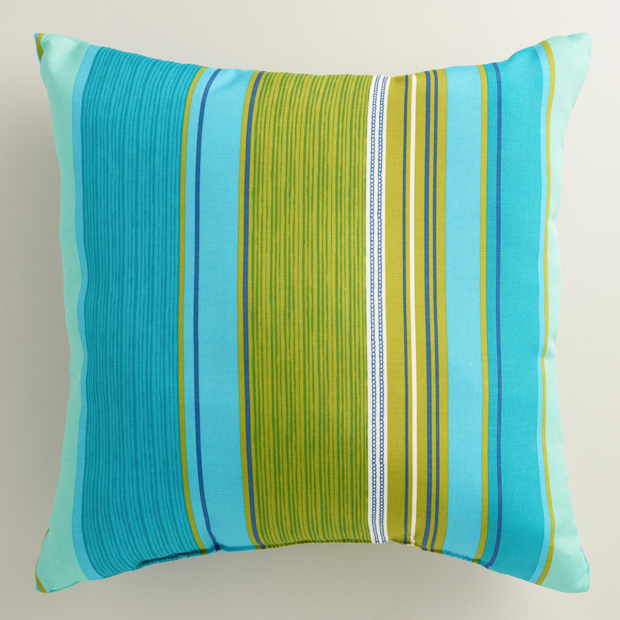 Coastal Home Throw Pillows : Coastal Stripe Outdoor Throw Pillow World Market