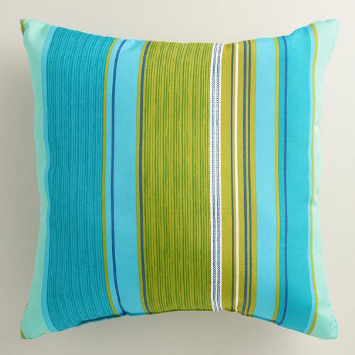 Coastal Stripe Outdoor Throw Pillow
