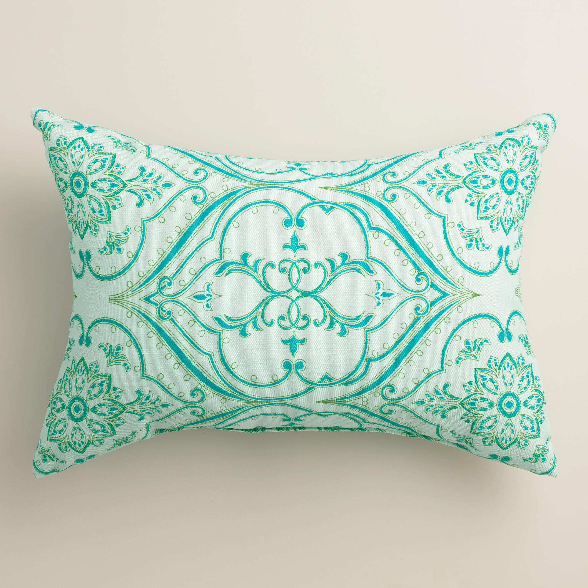 Puzzle Outdoor Decorative Pillow : Pacifica Floral Outdoor Lumbar Pillow World Market