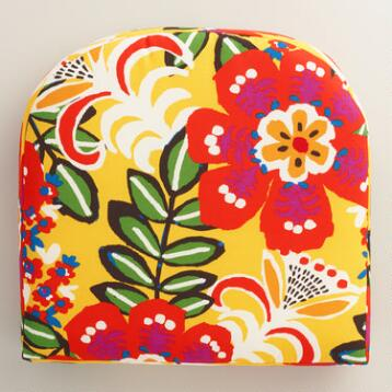 Caribbean Floral Gusseted Outdoor Chair Cushion