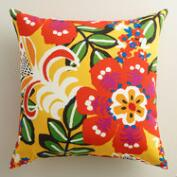 Caribbean Floral Outdoor Throw Pillow