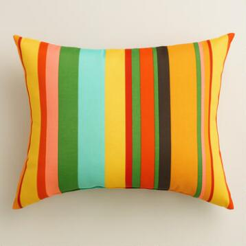 Havana Stripe Outdoor Lumbar Pillow