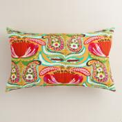 Santiago Paisley Outdoor Lumbar Pillow