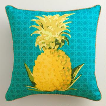 Pineapple Outdoor Throw Pillow