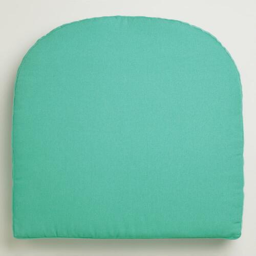 Blue Canton Gusseted Outdoor Chair Cushion