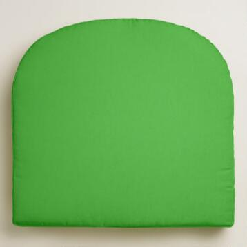 Lime Gusseted Outdoor Chair Cushion