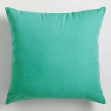 Blue Canton Outdoor Throw Pillow