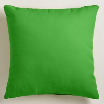 Lime Outdoor Throw Pillow