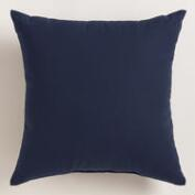 Peacoat Blue Outdoor Throw Pillow