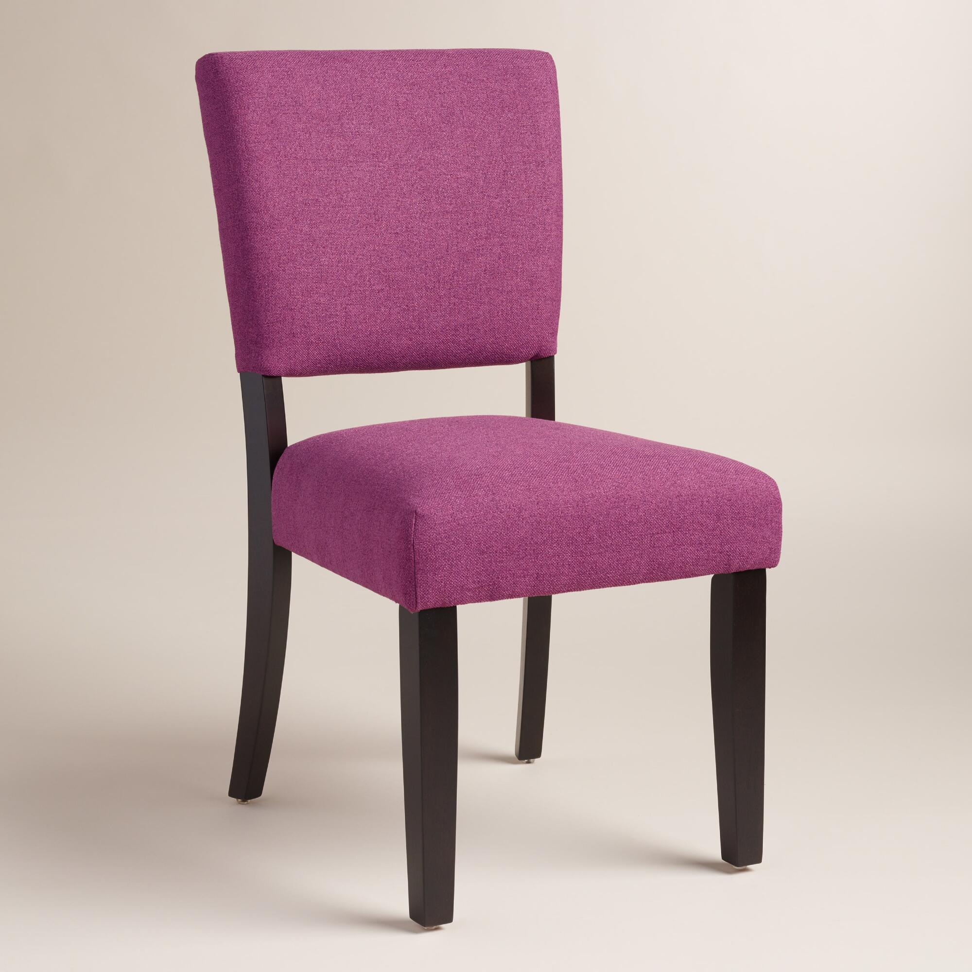purple mady dining chairs set of 2 world market. Black Bedroom Furniture Sets. Home Design Ideas