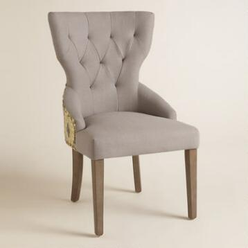 Green Daltrey Geo and Linen Maxine Dining Chair