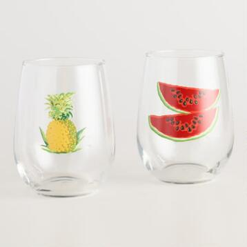 Havana Stemless Glasses Set of 2