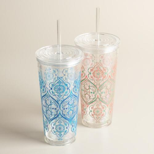 Pacifica Double Wall Acrylic Tumblers Set of 2