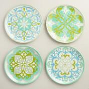 Coastal Melamine Dinner Plates Set of 4