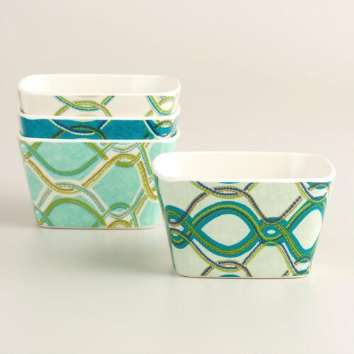 Coastal Melamine Dip Bowls Set of 4