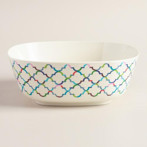 Oceans Gate Melamine Serving Bowl