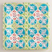 Square Oceans Gate Melamine Serving Platter