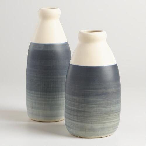 Ombre Gray Ceramic Vase