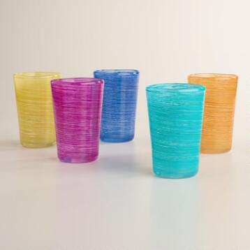 Swirl Acrylic Tumbler Glasses Set of 4