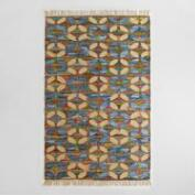 5x8 Flatweave Cotton Denim Kilim Frida Area Rug